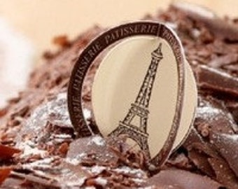 Set of 12 Eiffel Tower Paris Theme Cupcake Topper Picks Birthday Celebration