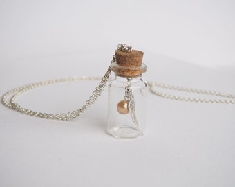 Snitch in a jar necklace