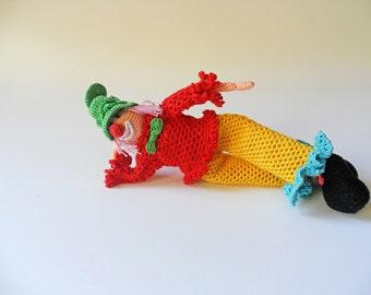 Crochet Amigurumi Clown Miniature Clown Soft Toy Clown Doll Room Ornament Cute Gift Idea