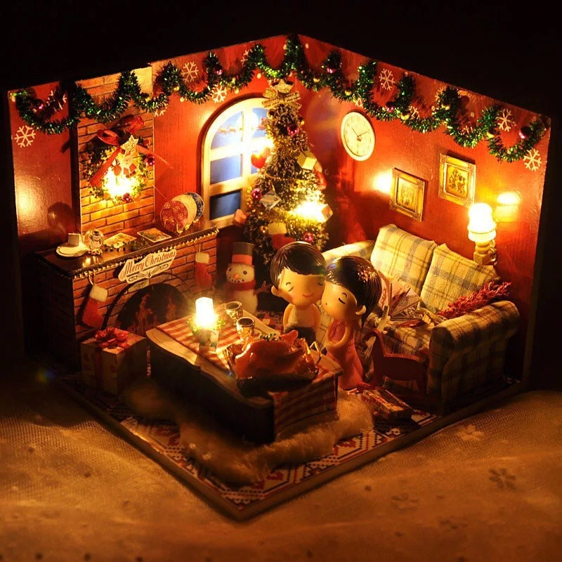 DIY Miniature Christmas Dollhouse Kit By KoolKro On Etsy