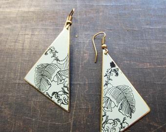 Earrings Japan, mint triangle