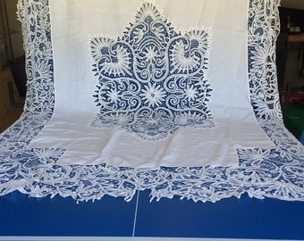Battenburg Lace Tablecloth