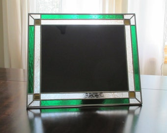 Custom stained glass 8x10 frame