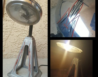 Hot Rod Style Industrial lamp