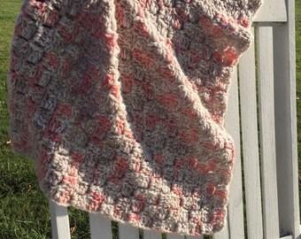 """Crochet """"Corner-to-Corner"""" Baby Blanket"""