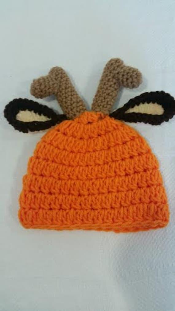Crochet Pattern For Baby Deer Hat : Crochet Deer Hunter Hat Pattern