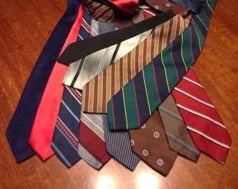 12 Men's Neck Ties for quilting or crafts (t#2)