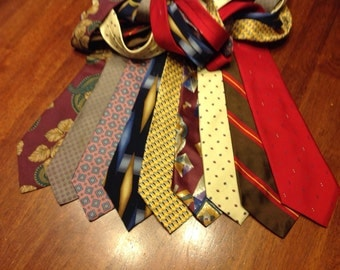 9 Silk Neck Ties for quilting or crafting (t#3)
