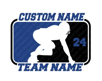 Football Shirt - Custom Team or School Spirit T-Shirt - You Choose Your Team or School Colors - Split Design
