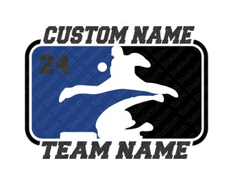 Custom Baseball Shirt - Team or School Spirit T-Shirt - You Choose Text/Colors/Position/Number