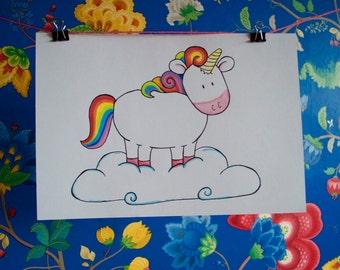 Unicorn Art Drawing