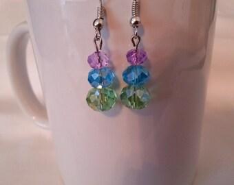 Pastel Crystal Earrings   EA223