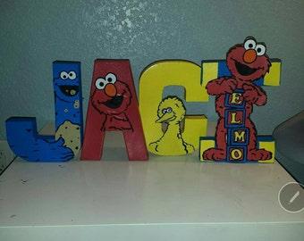 Elmo paper mache letters
