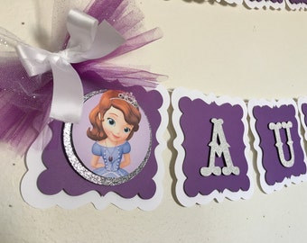 Sofia the first birthday banner (name and age included !!)
