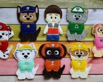 Paw Patrol finger puppets