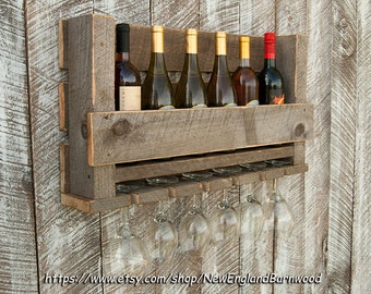 Items Similar To Wall Mounted Wine Rack And Glass Candle