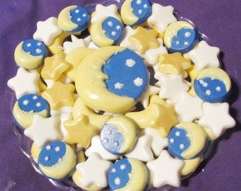 Celestial Moon and Stars chocolates candy tray