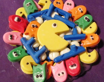 Pac Man video game chocolates candy tray