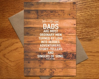 Birthday Card For Him / Dad Card / Dad Birthday Card / Father's Day Card / Awesome Dad Card / Anytime Dad Card / New Dad Card / 5x7