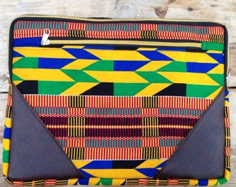 Kente Print Laptop Case
