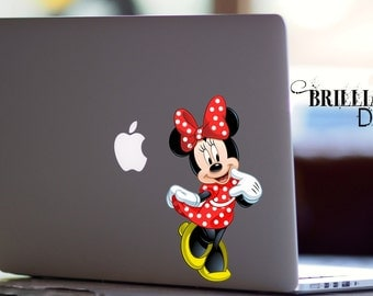 Minnie Mouse, Minnie Mouse decal ,Minnie Mouse sticker, Minnie Mouse MacBook Pro, MacBook Air, MacBook, Gift, For her, geekery