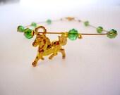 green crystals bracelet horse bracelet,boho jewelry