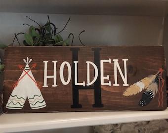 Custom Name Sign Boys Room Nursery Decor Home Decor Gift Item Hand Painted
