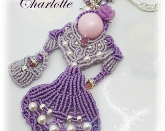 "Photo tutorial in PDF to make ""Charlotte""."