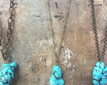 Long Turquoise Stone Necklaces