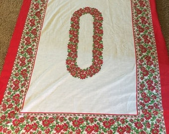 Vintage Christmas Tablecloth Kitsch