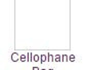 100 Pack of Cellophane Bag 6 7/16 x 7 1/8