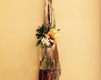 Driftwood Wall Art w/ Reclaimed Glass Vase