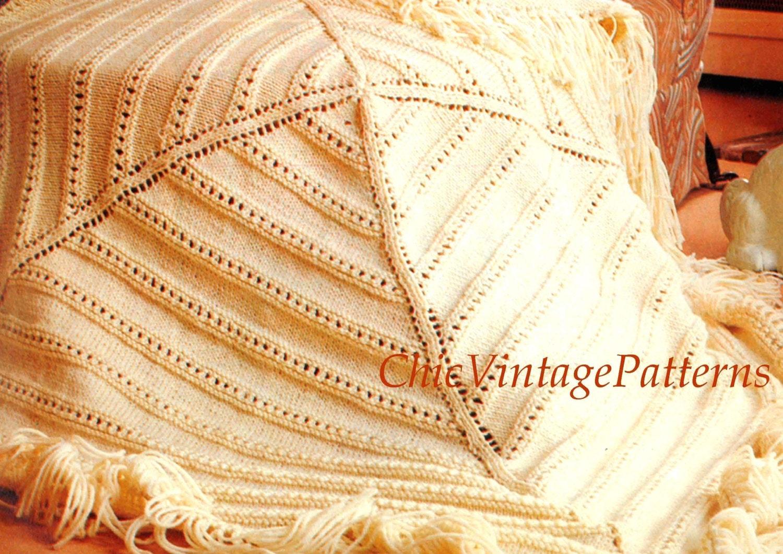 Knitting Pattern Afghan Rug : Knitted Afghan Rug .... Geometric Afghan .... PDF Knitting ...