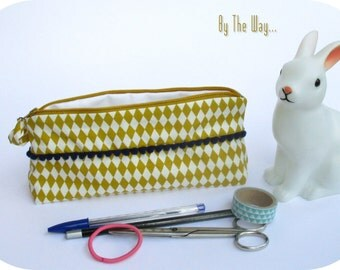 Geometric pencil case - cosmetic bag
