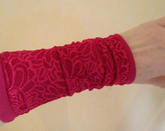 Lace Jersey tulips pink