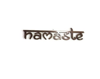 Laser cut wall art, laser cut wood art, spiritual signs, Namaste