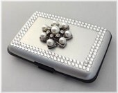 Swarovski Rhinestone Credit Card Case, Rhinestone RFID Aluminum Wallet, Rhinestone Business Card Holder, Accordion Sleeve Wallet