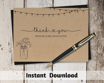 Wedding thank you cards handwritten or typed
