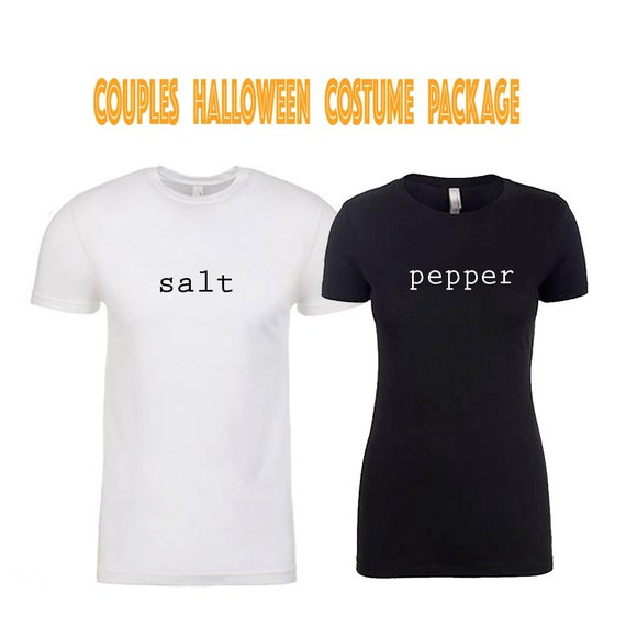 Adult Salt and Pepper Costume, Halloween Costume, Couples Costume, Funny T-shirt, Funny Halloween Shirt, Couples Shirts, Workout Shirts