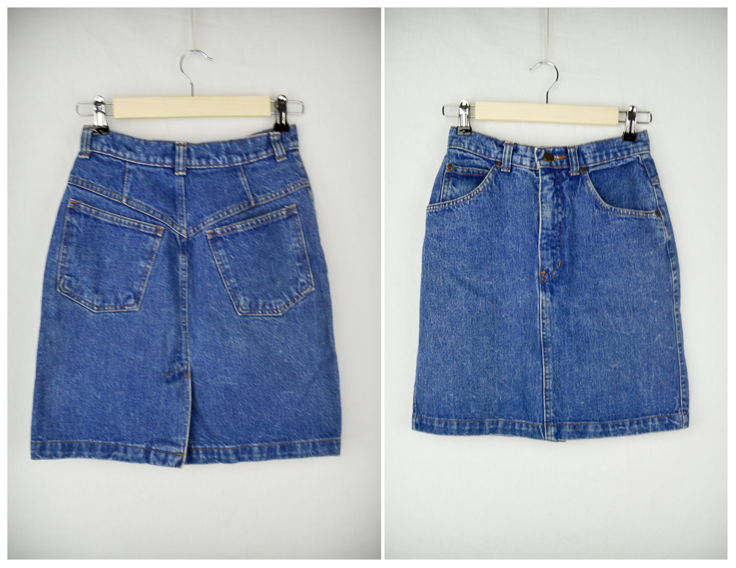 90s high waisted jean skirt vintage clothing 90s clothing