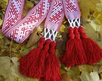 Odal - Men's Woven Belt, Handmade Woven Sash, Woven strap, Woven band