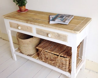 Modern Rustic Handmade Console Table/Sideboard - 2 Drawers
