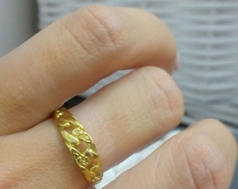 SALE! Gold ring,simple ring,chain ring,linked chain,knuckle ring,stack ring,holiday gift,delicate ring