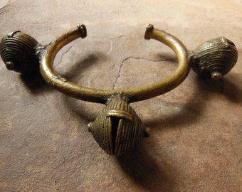 SALE#...Large Brass or Bronze Alloy Currency Bracelet Ethnic Jewelry African