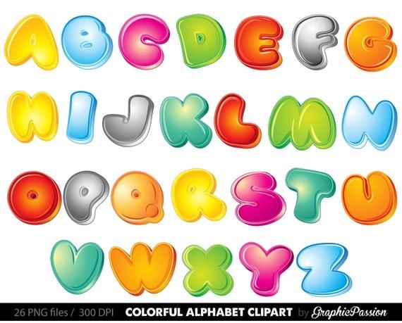 3D Alphabet Clipart Color Alphabet Digital Alphabet