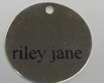 Custom Laser Engraved Charms