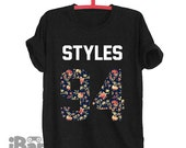 STYLES 94 shirt Harry Styles floral T shirts Blogger Tumblr T-shirt Unisex Men Women Tshirts Size S/M/L/XL/2XL