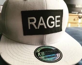 White Rage Snapback Hat