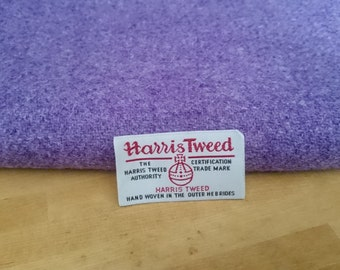 Harris Tweed Cloth Fabric Lavender Lilac Purple Luxury Handwoven 100% Pure Virgin Wool handwoven in Outer Hebrides Scotland