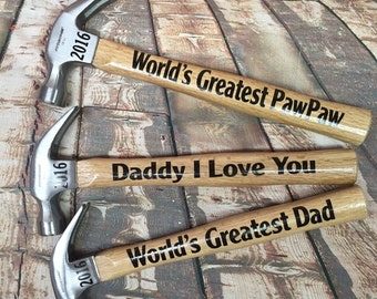 Hammers for Dad -  for the dad who can build anything-I love you daddy hammers -  gift for dad